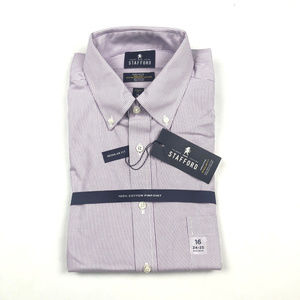 Stafford Executive Purple Pinstripe 16 34/35 Shirt